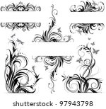 floral ornament | Shutterstock .eps vector #97943798