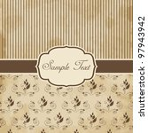vintage styled card | Shutterstock .eps vector #97943942