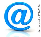 blue at symbol 3d with...   Shutterstock . vector #97946156