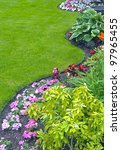 Landscaped Yard And Garden. A...