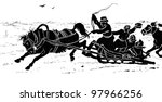 coachman. engraving by  angerer.... | Shutterstock . vector #97966256