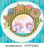 boy and girl  surrounded by the ... | Shutterstock .eps vector #97972562