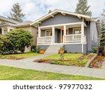 rain streaked bue grey small... | Shutterstock . vector #97977032