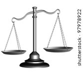 silver scale of justice against ... | Shutterstock .eps vector #97978922