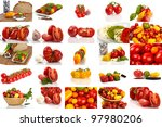collage of many different... | Shutterstock . vector #97980206
