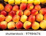 ripe apples in a wattled basket | Shutterstock . vector #97984676