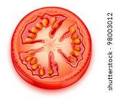 a slice of tomato - stock vector