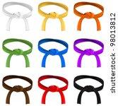 martial art belt rank system | Shutterstock .eps vector #98013812