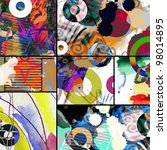 abstract graffiti collage ... | Shutterstock . vector #98014895