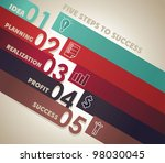 number line background for... | Shutterstock .eps vector #98030045