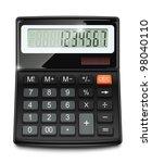electronic calculator vector... | Shutterstock .eps vector #98040110