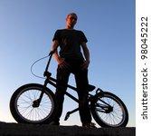 boy on bmx bike | Shutterstock . vector #98045222