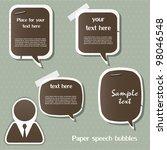 paper speech bubbles   Shutterstock .eps vector #98046548