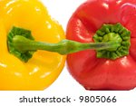 connected bulgarian peppers... | Shutterstock . vector #9805066