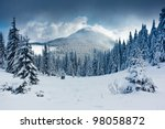 Beautiful Winter Landscape Wit...