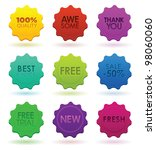 colored badges | Shutterstock .eps vector #98060060