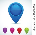 set of colorful map markers | Shutterstock .eps vector #98060096