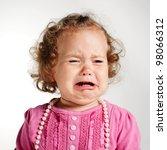 Little crying girl portrait