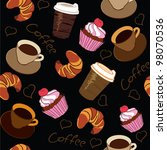 seamless pattern of a cup of... | Shutterstock .eps vector #98070536