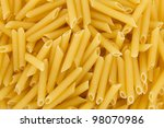 Hires closeup of penne pasta - stock photo