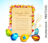 illustration of easter card... | Shutterstock .eps vector #98072102