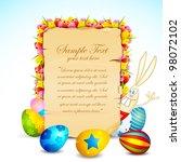 illustration of easter card... | Shutterstock .eps vector #98072102