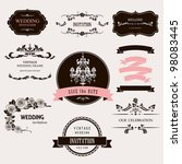 set of celebration frames and... | Shutterstock .eps vector #98083445