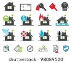 Estate icons - stock vector