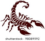 scorpion  vector image for the... | Shutterstock .eps vector #98089592
