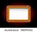 theater marquee blank neon... | Shutterstock . vector #98099342
