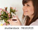 a beautiful caucasian luck... | Shutterstock . vector #98101925