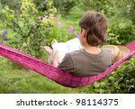 A Child Resting In  Hammock And ...