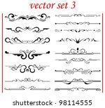 vector set 3  calligraphic...   Shutterstock .eps vector #98114555