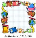 school background  vector... | Shutterstock .eps vector #98126948