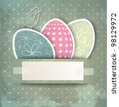 Template For Happy Easter Card...