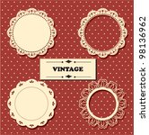 vintage lace frames. | Shutterstock .eps vector #98136962