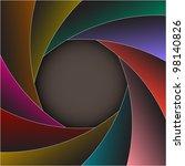 colorful shutter photo frame...   Shutterstock .eps vector #98140826
