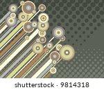 retro circles  diagonal stripes ...