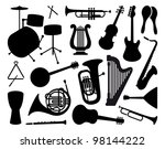 silhouettes of musical...   Shutterstock .eps vector #98144222