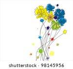 flowers | Shutterstock .eps vector #98145956