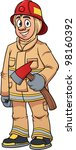 cartoon firefighter. vector... | Shutterstock .eps vector #98160392