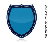 protection shield isolated over ... | Shutterstock . vector #98165192