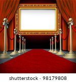 movie and theater marquee blank ... | Shutterstock . vector #98179808