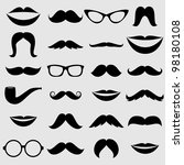 mustaches and other accessories ... | Shutterstock .eps vector #98180108