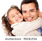 girl hugging her father  ... | Shutterstock . vector #98181926