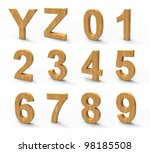 wood font isolated on white... | Shutterstock . vector #98185508