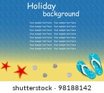 sandals and starfish at beach... | Shutterstock .eps vector #98188142