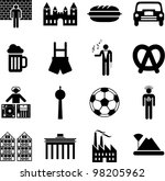 Germany icons - stock vector