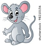 Cute Cartoon Mouse   Vector...
