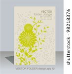 vector folder design on floral... | Shutterstock .eps vector #98218376